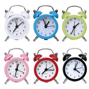Clock (Portable Cute Mini Round Battery Alarm Clock)