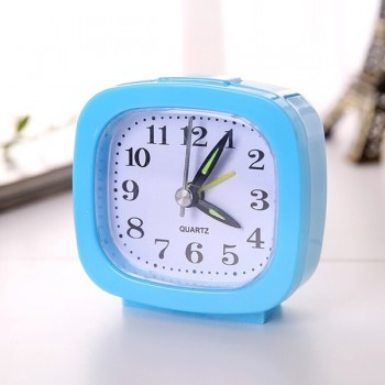 Clock (Square Small Bed Compact Travel Quartz Beep Alarm)