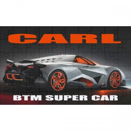 Super Car BTM super car  Personalised Jigsaw