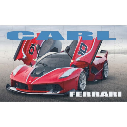Super Car Ferrari Personalised Jigsaw