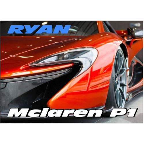 Super-car Mclaren P1 Personalised Jigsaw