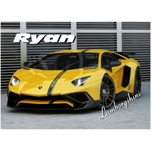 Super Car Lamborghini Personalised Jigsaw