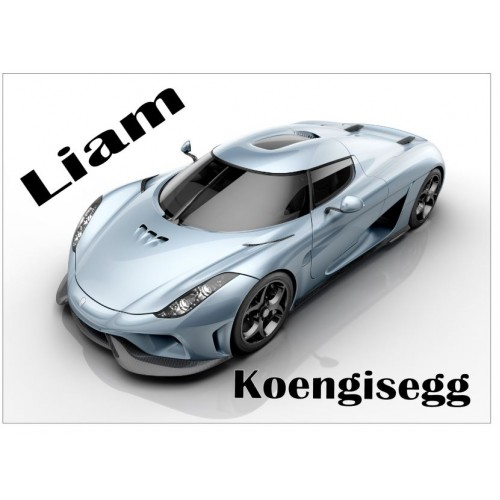 Super Car - Koengisegg Personalised Jigsaw