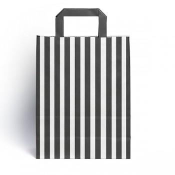 Black & White Flat handled sweet bag (pack 10 / 25 / 50