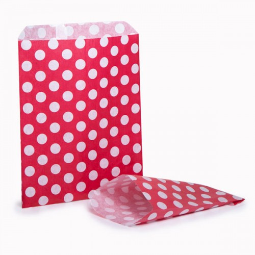 Polka dots  Red & White sweet bag (choice of different pack sizes)