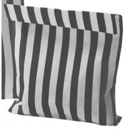 Paper Black / White stripe candy bag