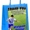 Paper Tote Bag - (Blue, Red, Green) Footballer