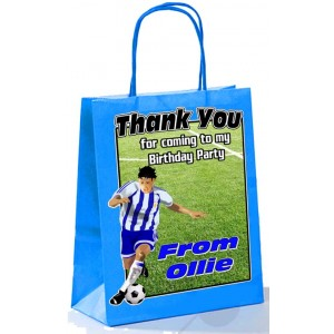 Paper Tote Bag (Blue, Red, Green) Footballer