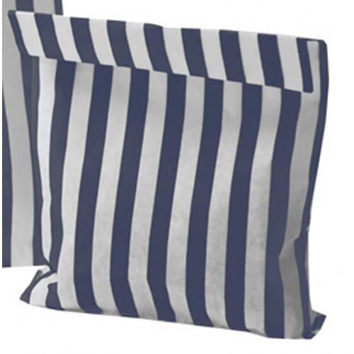 Paper Dark Blue / White stripe candy bag