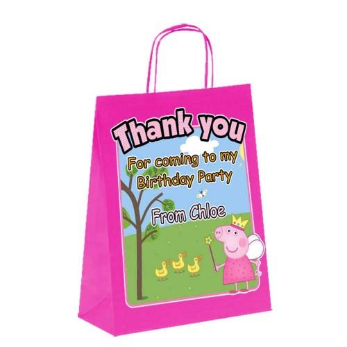 Paper Tote Bag - (Peppa Pig)