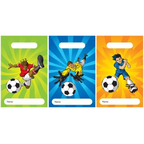 Plastic Favour Sweety \ Candy Bags (Footballers)