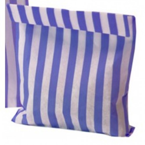 Paper Purple / White stripe candy bag
