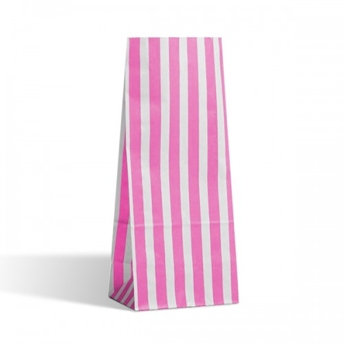 Tall Aqua / White stripe sweet bag (pack 50 / 100)