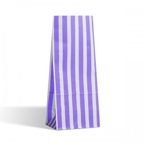 Tall Purple / White stripe sweet bag (choice of different pack sizes)