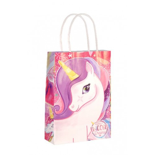 Paper tote bag - (Unicorn Party Pape Bag)