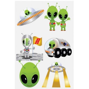 Alien Sweet / Candy Bag Seal Stickers