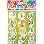 Footballer Sweet / Candy Bag Seal Stickers