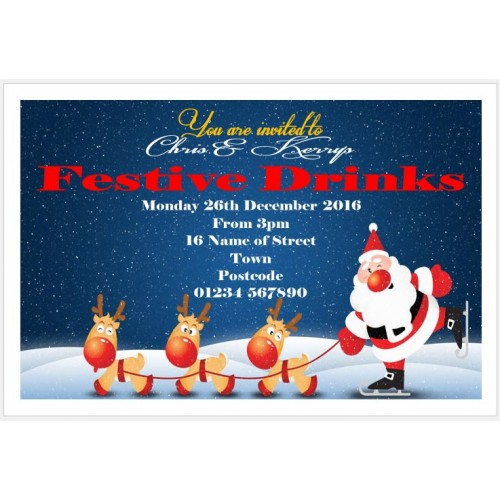 Invites - Santa and reindeers