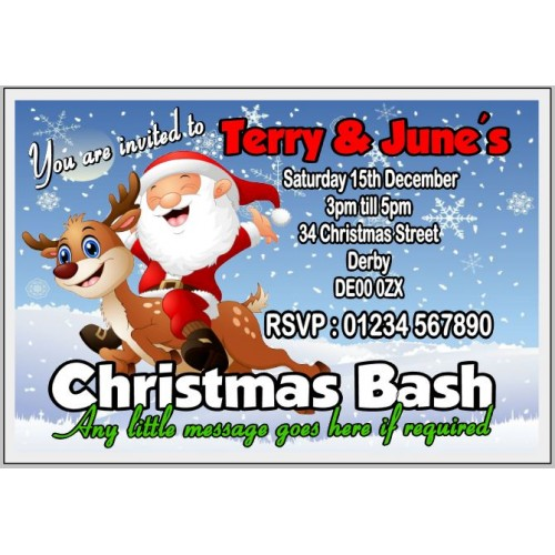 Invites - Rudolf & Santa
