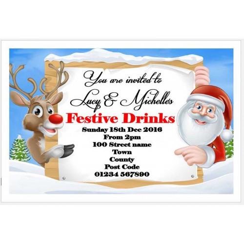 Invites -Rudolf & Santa